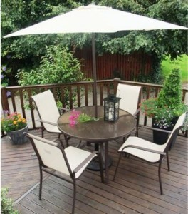 Carmelita 4 Seat 1.2m Patio Set