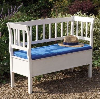 See the Marlow Indoor & Outdoor Hardwood 2 Seat Storage Bench