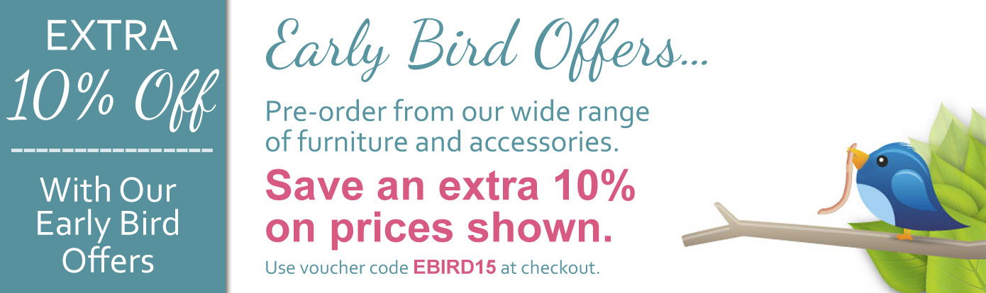 Early bird all weather garden furniture